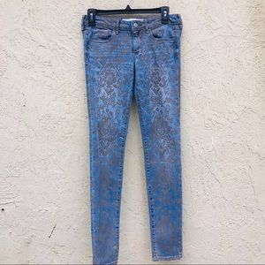 Abercrombie & Fitch Gold foil floral Print Jeans